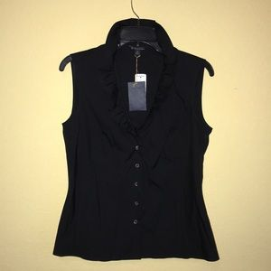 Brooks Brothers Sleeveless Button Down Top